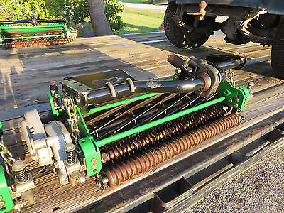 John Deere Fairway Mower Reels Groomers Roller Brush Set 5 Exceptionally Clean