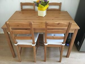 Jokkmokk dining table and 4x chairs with covers Como South Perth Area Preview