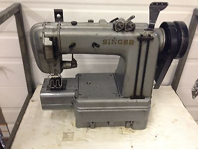 Singer 302w201 2 Needle Jeans Waistband Cylinder Bed Industrial Sewing Machine