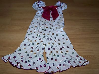 Child Size Medium Costume Gallery Polka Dot Clown Dance Outfit Metallic Preowned - Childs Clown Outfit