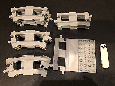 LEGO DUPLO Light Gray Train Tracks Only from Steam Train 10874 Set EUC -16pcs