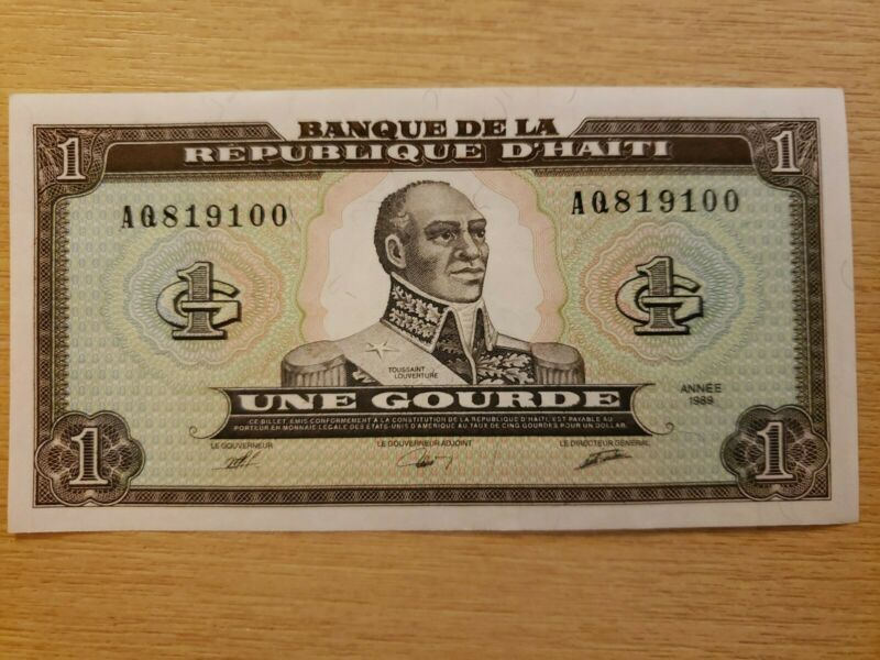 🇭🇹 Haiti 1 gourde  1989 P-253 Banknote, Paper Money UNC