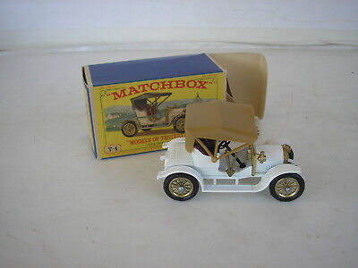 Vintage Matchbox Lesney Models of Yesteryear Y-4 1909 Opel Coupe w/ Box