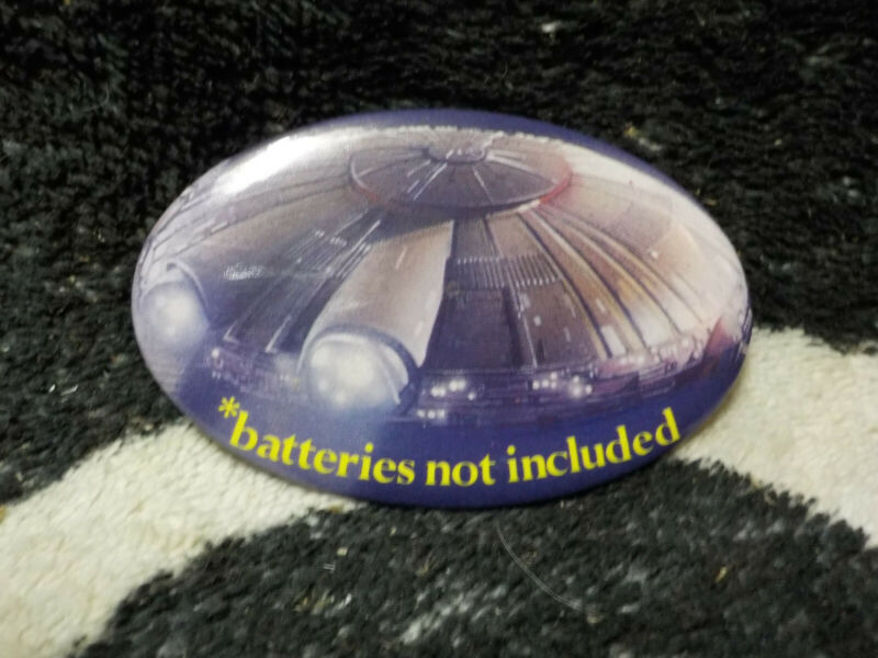 *Batteries Not Included Vintage Movie Theater Pin Pinback Button Badge