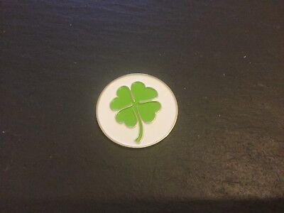 New Lucky Irish SHAMROCK  Flat Golf Ball MARKER