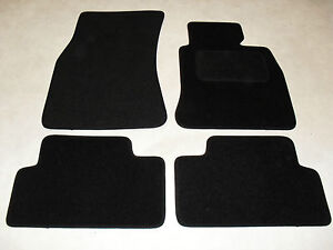 BMW 3 Series E46 Coupe 1998-2005 Fully Tailored Deluxe Car Mats in Black.