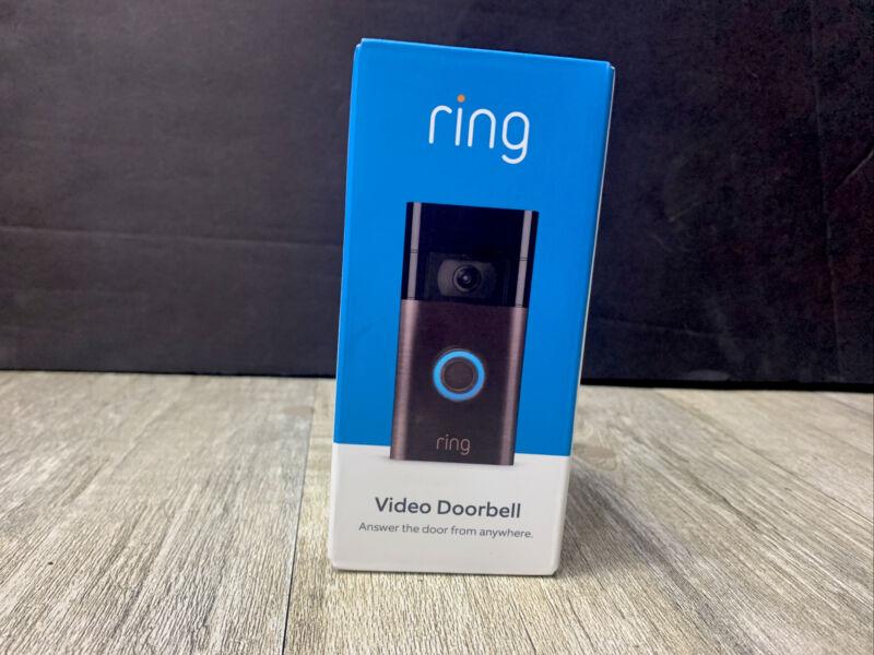 Ring Video Doorbell 1080p HD Venetian Bronze Brand New Sealed