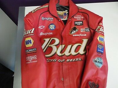 09cc4cbe1 Jeff Hamilton Nascar Dale Earnhardt Budwiser Jacket size L