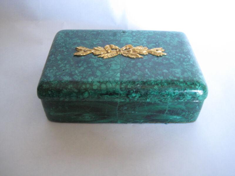 MALACHITE & BRONZE BOX