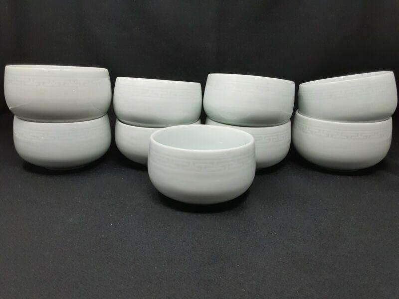 Asian Celadon Soup Bowls (9)