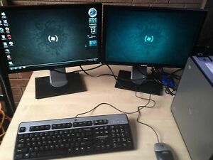 Dell desktop with 2 monitors Charnwood Belconnen Area Preview
