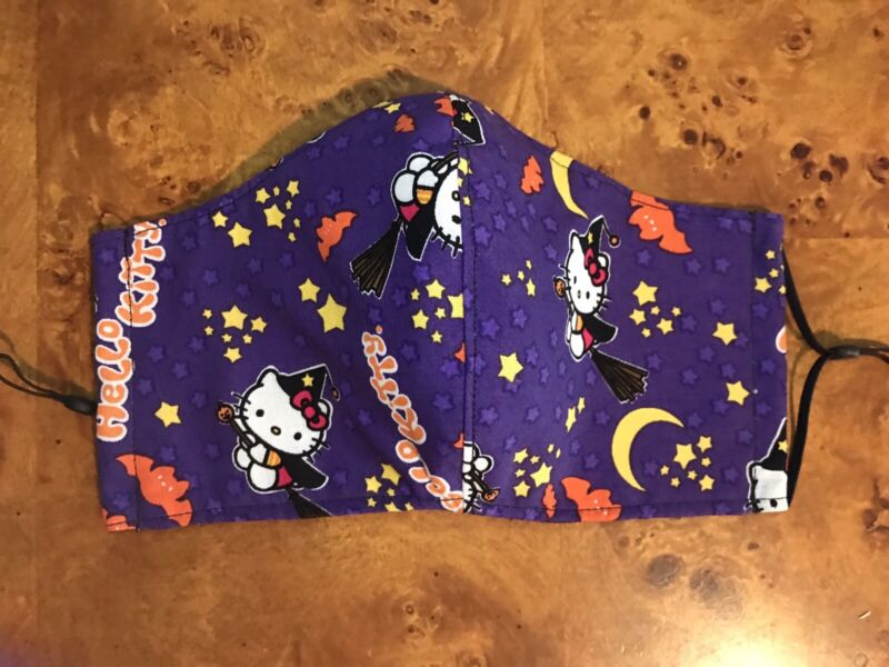 Hello Kitty Halloween Mask 3Fabric Layer Adult  Face Mask