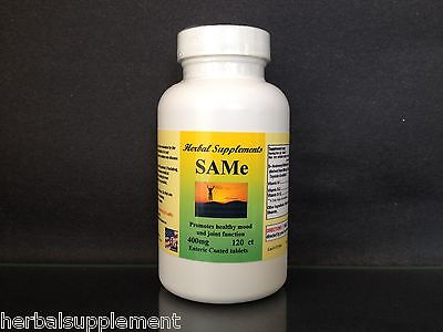 120 Enteric Coated Tablets - SAM-e 400mg, depression aid,pain relief,spine, hips ~ 120 enteric coated tablets