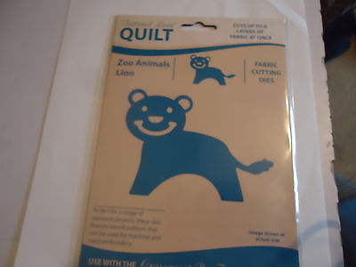 New Tattered Lace Quilt Zoo Animals Lion Fabric Cutting Die