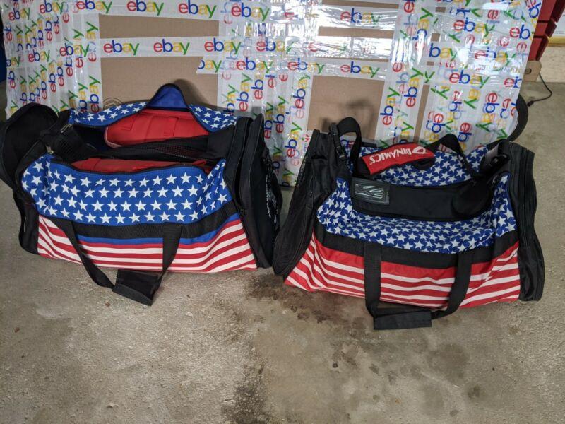 Martial Arts Bag + Gear - Karate Pads Kids And Adult - Nice Lot