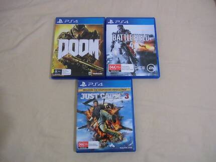 PS4 games swap/sell/trade - Doom, Just Cause 3, Battlefield 4 Hornsby Hornsby Area Preview
