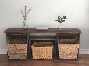 Rustic Storage Bench (Can Deliver)