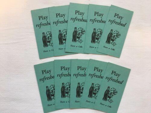 "Set of 100 Green Coke Coca Cola Bridge Scoring Cards w/ ""Sprite Boy"" ~ Ca 1940"