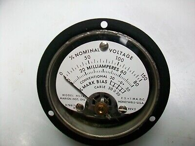 Honeywell 2 12 Round 0-1 Ma . Dc. Multiple Scale Panel Meter