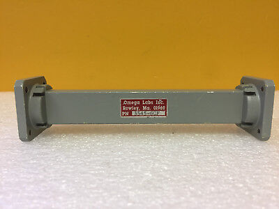 Omega Labs 3545-6cf Wr75 10 To 15 Ghz 6 L Waveguide Straight Section