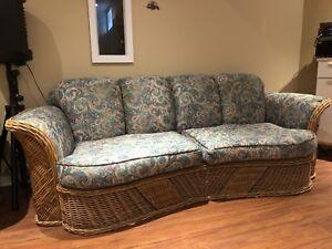 Rattan Wicker Sofa