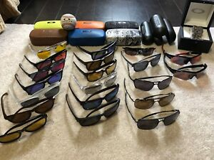 Selling Oakley Collection, sunglasses, watch, display cabinet