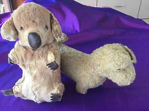 1950's Stuffed toy bear and dog Mentone Kingston Area Preview