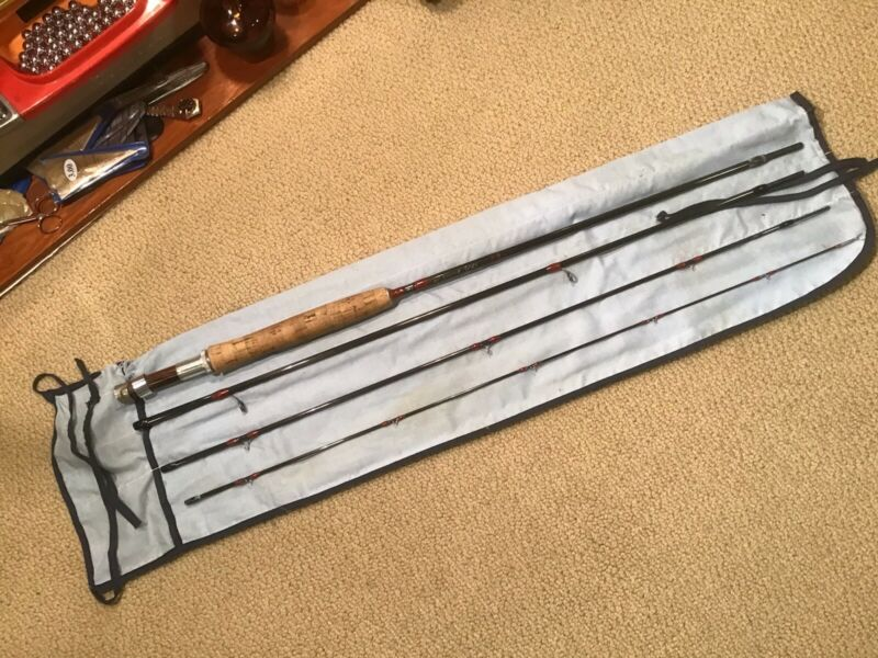 Vintage Fisher Graphite Fly Rod 9' 6wt 4pc Custom **NICE**