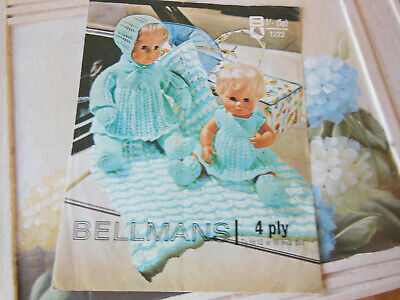 """KNITTING PATTERN FOR DOLLS CLOTHES - COPY OF VINTAGE PATTERN 12""""-16"""" DOLL"""