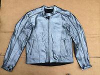 Frank Thomas Mens Leather Motorbike / Motorcycle Jacket Uk 40, Chest (1) Silver - frank thomas - ebay.co.uk