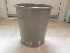 InterDesign York Fire Safe Steel Wastebasket Trash Can