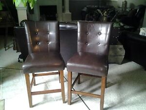 4 faux leather breakfast bar chairs Cambridge Kitchener Area image 1