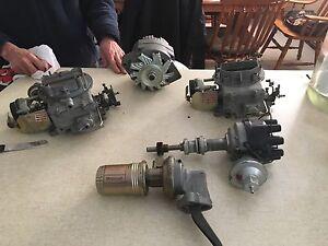 80s fuel pump/filter, alternator, distributor, 2 carburetters