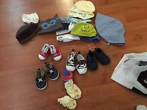 Baby boy shoes and hats