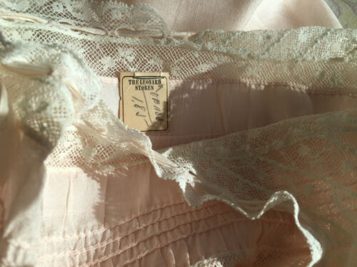 Vintage Edwardian Camisole Corset Cover NOS w/tag ~100 yrs old | Original Ribbon