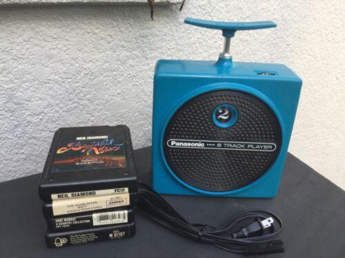 Panasonic TNT 8-Track Player Blue RQ-830S works great