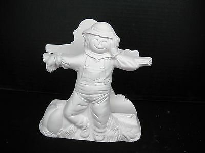 04 Ceramic Bisque Ready to Paint  2017 Scarecrow Napkin Holder
