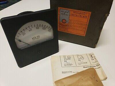 Vtg 1940s Westinghouse Rx-37 Panel Meter Gauge Voltmeter 0-150 Volts Nib New