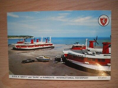 "POSTCARD - HOVERCRAFT - ""SWIFT"" AND ""SURE"" AT RAMSGATE"