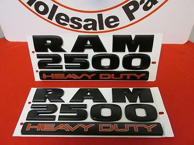 Dodge Ram Matte Black 2500 Heavy Duty Door Emblems Set of 2 NEW OEM MOPAR