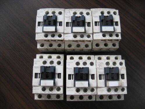 Lot of 6 Telemecanique CAD32BD Contactors With 24VDC Coil