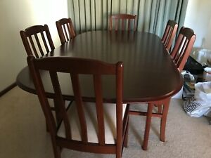 Jarrah extension dining table