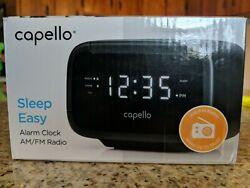 (5D8) Capello Sleep Easy Digital Alarm Clock with AM/FM Radio CR15 Open Box