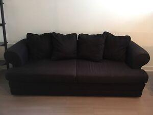 Sofa 3 places Ikea noir
