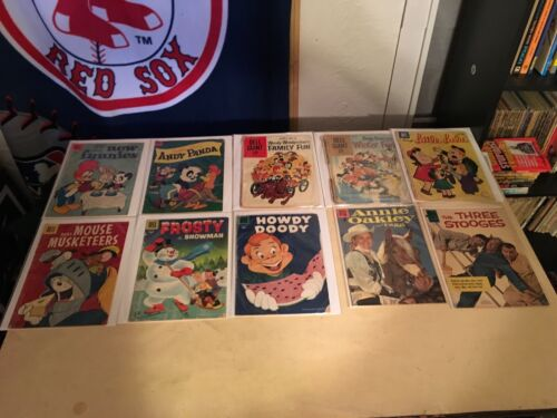 Vintage dell 4 color comics 10 comic lot golden age