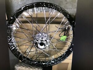 "HARLEY-DAVIDSON BLACK 21"" FRONT WHEEL"