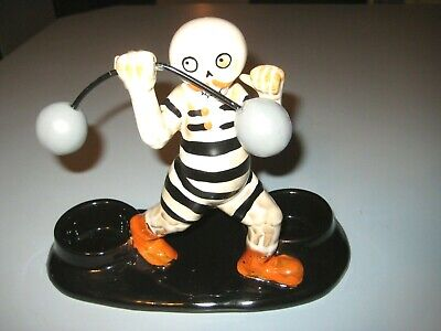 Yankee Candle 2019 Multi Boney Strongman Halloween Circus Votive Candle Holder