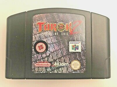 Nintendo 64 - Turok 2: Seeds of Evil - N64 Cart - Classic Game!