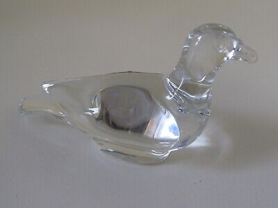 BACCARAT FRANCE CLEAR CRYSTAL PIGEON DECORATIVE COLLECTIBLE FIGURINE