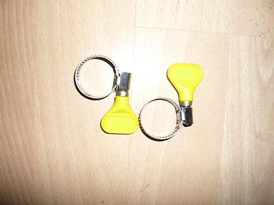16 - 25  mm HOSE CLAMP X2 KOI / POND / FILTER / GARDEN